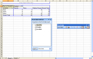 Pivot Table final result