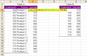 VLOOKUP with TRUE option