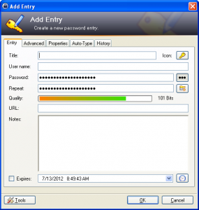 Add Keepass Entry